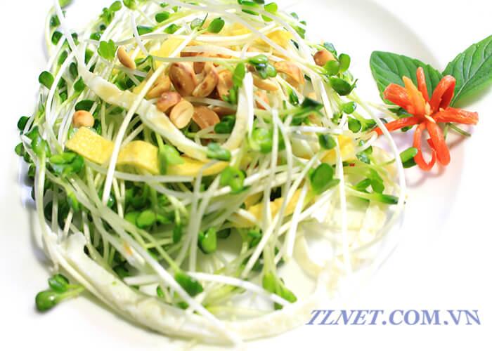 Salad Cải Mầm Đậu Trắng