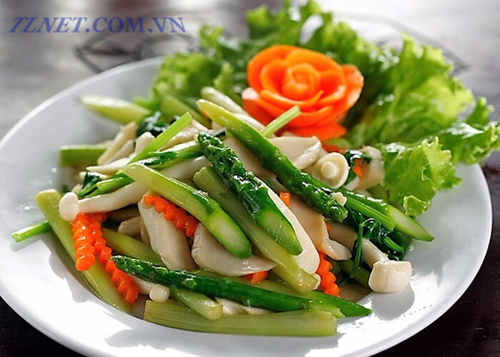 Salad măng tây dây