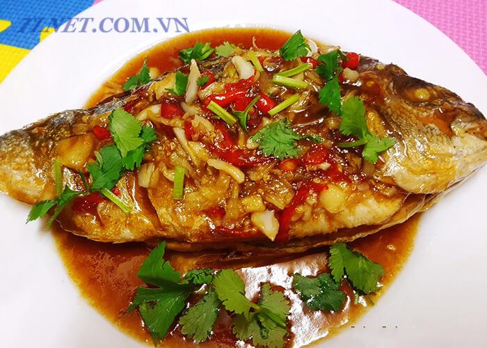 Cá Cam Rán Lá Hương Nhu