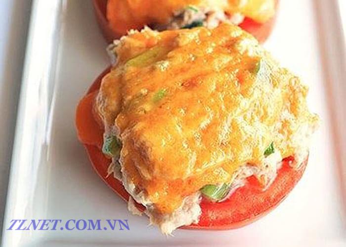Cà chua nhồi cá ngừ