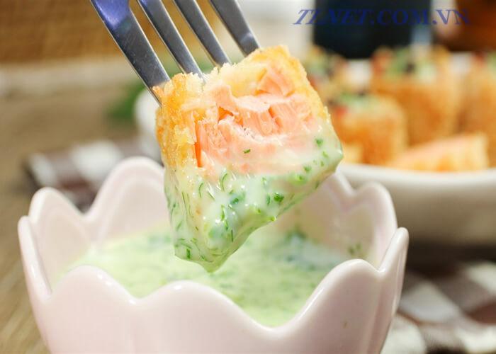 Cá Hồi Trộn Sốt Mayonnaise
