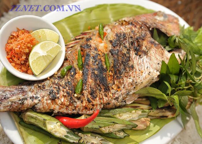 cá rô nướng rơm