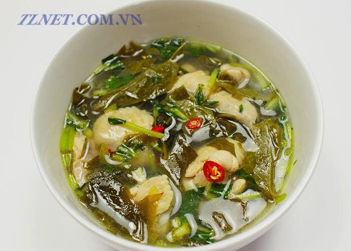 Canh Lá Giang Sò Lông