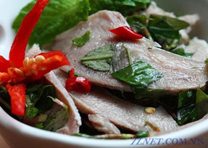 Gỏi Lưỡi Lợn Chua Cay