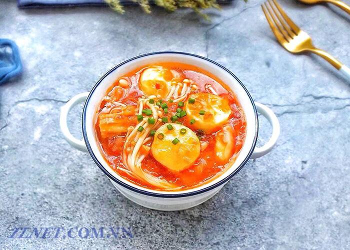 Súp cà chua kim chi