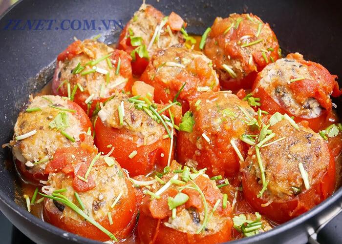 cà chua hấp